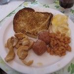 Omelettes, Oeufs dans le sirop, Boulettes, Fèves au lard
