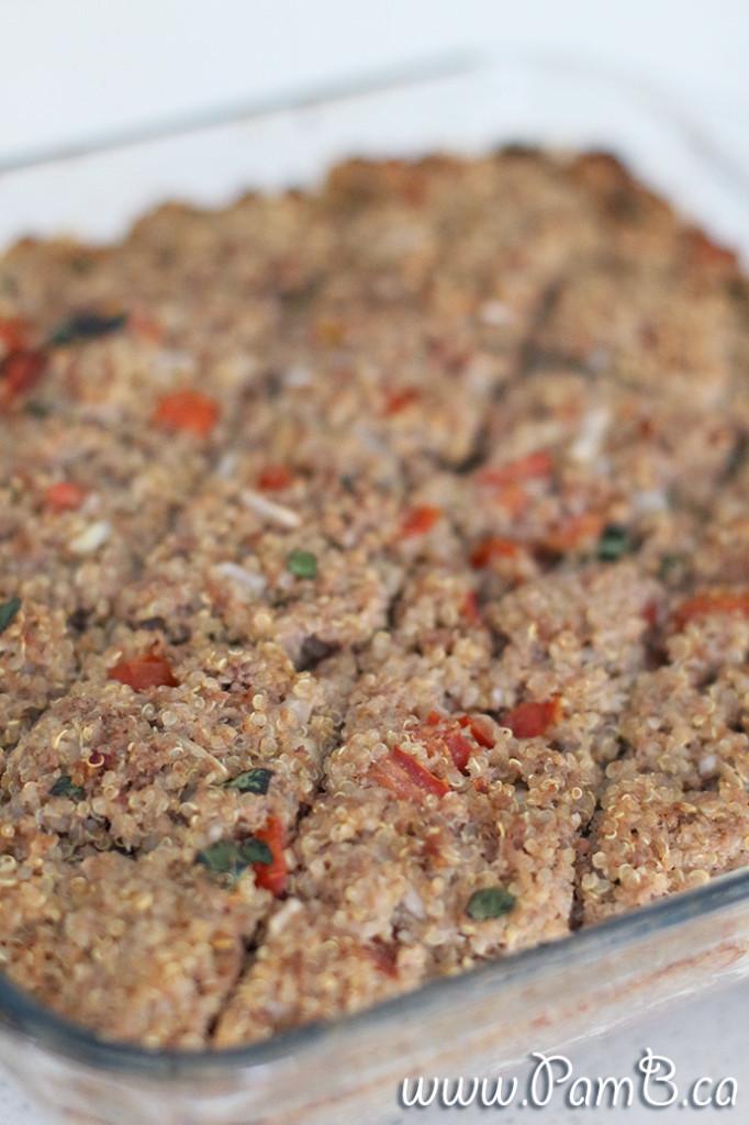 quibe de quinoa e ricotta