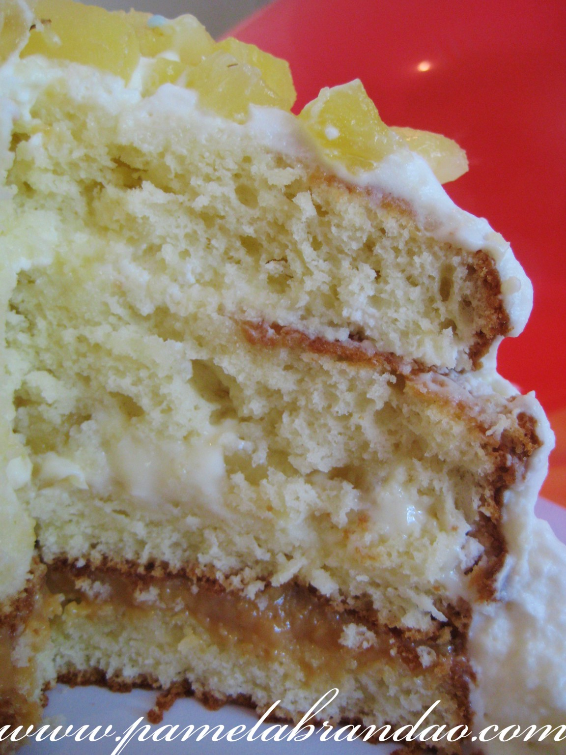 Pound Cake with Pineapple and Dulce de Leche Filling 2